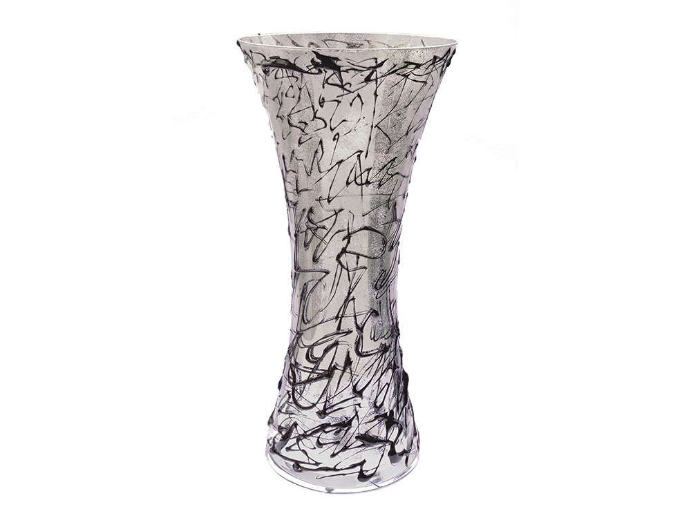 PERLE D'ARTE  Crystal and glass vases / Black Reflex Jazz Vase 300